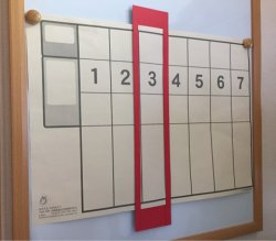 画像2: 「超カレ」   特大巻物カレンダー 赤枠用シート付